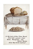 Ww1 Rationing Illustration of War Time Bread