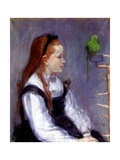 Young Girl with a Parrot  C1873