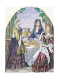 Marquise De Lude at Table