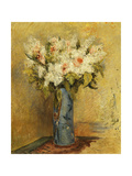 Vase of Lillies and Roses  C1870
