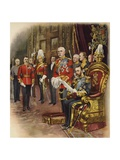 King George V Holds His First Court  May 1910