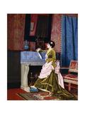 A Lady by a Fireplace  1873