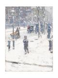 Snow Storm  Fifth Avenue  New York  1907