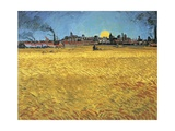Sunset: Wheat Fields Near Arles  1888