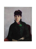 Woman with a Rose  1884
