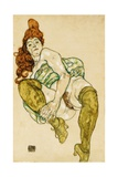Female Nude Clasping Right Leg  1917