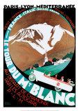 Tour du Mont-Blanc Reproduction d'art par Roger Broders