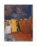 Clair de lune Reproduction d'art par Marc Chagall