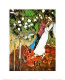 Les trois bougies Reproduction d'art par Marc Chagall