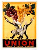 Union,1950 Reproduction d'art par Robys (Robert Wolff)