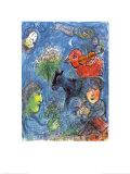 L'été Reproduction d'art par Marc Chagall