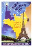 Paris Int'l Expo 1937 Reproduction d'art