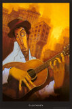 El Guitarrista Reproduction d'art par Justin Bua