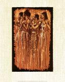 Sœurs spirituelles Reproduction d'art par Monica Stewart