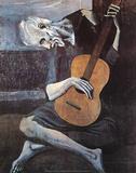 Le vieux guitariste aveugle, vers 1903 Reproduction d'art par Pablo Picasso