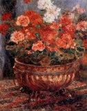 Géraniums Reproduction d'art par Pierre-Auguste Renoir