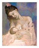Maternité Reproduction d'art par Pablo Picasso