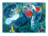 Le paradis Reproduction d'art par Marc Chagall