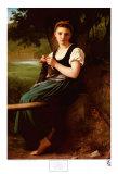 Knitting Girl  1869