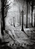Les Escaliers de Montmartre, Paris Reproduction d'art par Brassaï