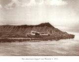 Pan American Clipper over Waikiki  Hawaii  1935
