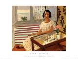 Femme assise à sa Coiffeuse Reproduction d'art par Henri Matisse
