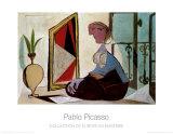 Femme au miroir, 1937 Reproduction d'art par Pablo Picasso