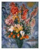 Bouquet de Fleurs Reproduction d'art par Marc Chagall