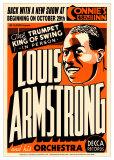 Louis Armstrong - Connie's Inn, NYC 1935 Reproduction d'art par Dennis Loren