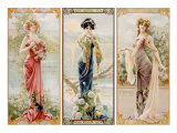 Three Silk Panels