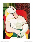 Le rêve Reproduction d'art par Pablo Picasso