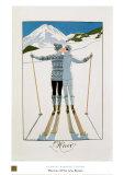 L'hiver Reproduction d'art par Georges Barbier