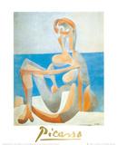 Baigneuse Assise au Bord de la Mer  c1930