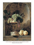 Grapes  Peaches And Quinches In A Niche  1883