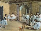 Le Foyer de la danse à l'Opéra de la rue Le Peletier Reproduction d'art par Edgar Degas