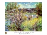 Seine At Chatou Reproduction d'art par Pierre-Auguste Renoir