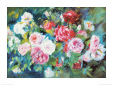 Roses, vers 1885 Reproduction d'art par Pierre-Auguste Renoir