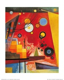 Rouge lourd Reproduction d'art par Wassily Kandinsky