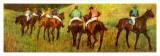 Racehorses in a Landscape (detail) Reproduction d'art par Edgar Degas