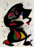 Aufrechte Figur Reproduction d'art par Joan Miró