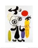 Petit Homme Devant Un Soleil Rouge II, vers 1950 Reproduction d'art par Joan Miró