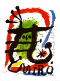 Affiche lithographie Reproduction d'art par Joan Miró