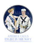 America Calls  Enlist in the Navy