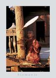 Temple Scene Burma