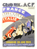 Grand Prix de l'A.C.F./1935 Giclée par Geo Ham