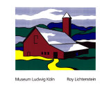 Red Barn II, 1969 Sérigraphie par Roy Lichtenstein