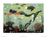 Sirène bleue Reproduction d'art par Jessica Fries
