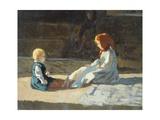 Children in Sun  Circa 1860