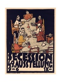 Poster Advertising Secession 49 Exhibition  1918