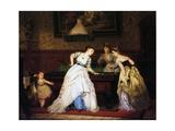 Ladies Playing Billiard  1869